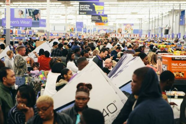 SALES, LINES, AND MADNESS -- The annual Black Friday sales started earlier this year, but customers still participated in the craziness.