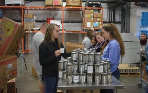 National Honor Society Volunteers at Food Bank