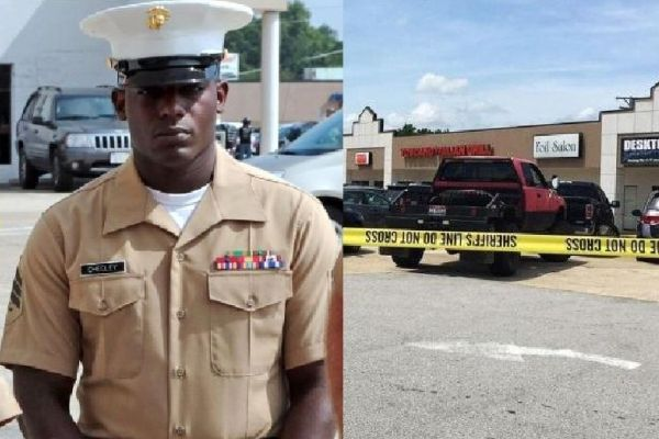 SGT. DEMONTE CHEELEY -- Cheeley is prepared to receive a Purple Heart Medal