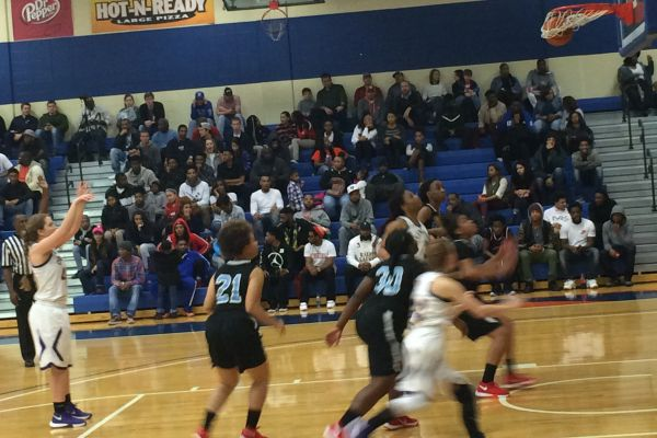 LADY POUNDERS SHOOT THEIR WAY TO VICTORY -- The Lady Pounders defeated the Brainerd Panthers 57-29.