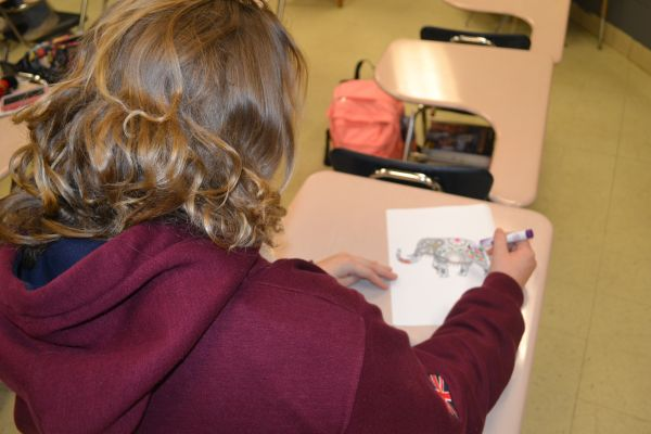 CENTRAL STUDENTS LOVE COLORING -- Coloring books are not just for kids! Central students are discovering the growing trend of