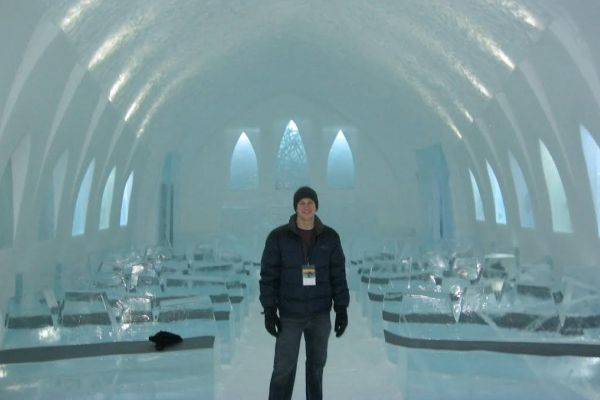 JUST AN EVERYDAY ICE CATHEDRAL IN SWEDEN -- During Ryan Adams's year abroad, he discovered this ice cathedral in Kiruna, Sweden.