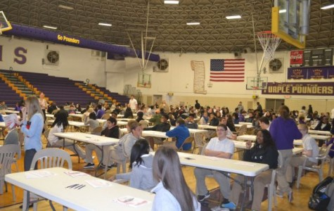 STUDENTS PREPARE FOR TN READY TESTING -- Sophomores prepare to take Part I of their English 10 TN Ready test.