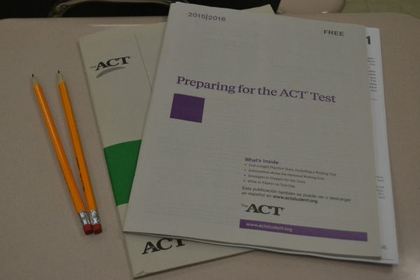 CENTRAL STUDENTS PREPARE FOR ACT TESTING -- The ACT test is a requirement for college acceptance.
