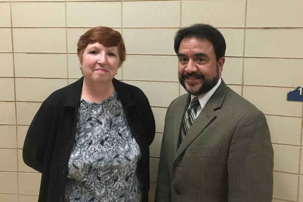ANDERSON AND SANCHEZ ENJOY THEIR REMAINING YEARS AT CENTRAL -- Two beloved teachers at Central High School, Anderson (left) and Sanchez (right), enjoy their time before retirement.