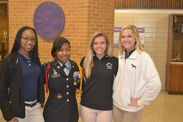 MISS. CENTRAL NOMINEES HAVE BEEN ANNOUNCED --- Kiara Jackson, Autumn Lloyd, Samantha Scott, and Skyler Dill are four of the six nominees for the Miss. Central title.