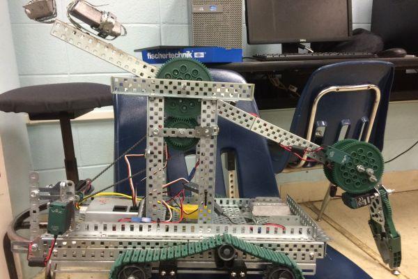 NEW MOBILE ROBOTICS TECHNOLOGY HELPS STUDENTS' CREATIVITY SKILLS -- Central's robotics team competes with robotic technology through Skills USA.