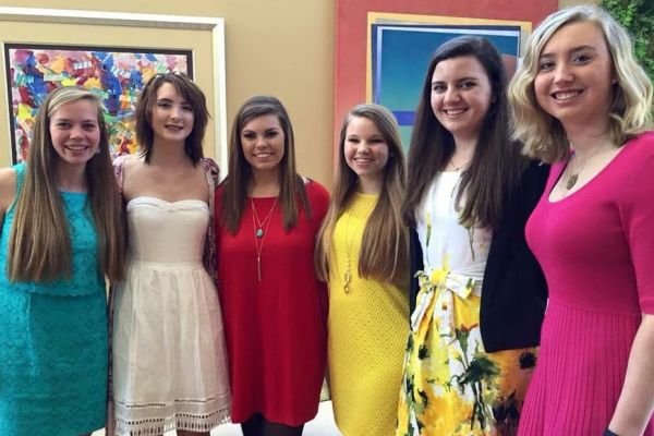 2016 CHATTANOOGA YOUNG WOMEN OF DISTINCTION -- Central High's Allie Nedeau (pictured second from right) is among six other high school seniors around Chattanooga to receive the award.
