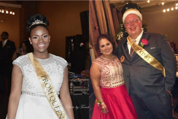 A NIGHT TO REMEMBER-- Timetrice Duckett and Ashby 'Butter Bean' Wilson were crowned as Central High School Royalty.