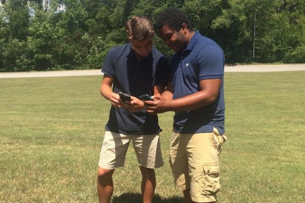 POKEMON GO IS A SUCCESS -- Students at Central High School gather to catch'em all!