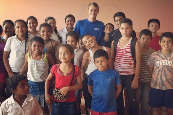 MATT JOYNER ACTS AS FATHER FIGURE --Before joining Central's team of teachers, Matt Joyner spent summers teaching children in Nicaragua and played a large role as a father figure for many of the children.