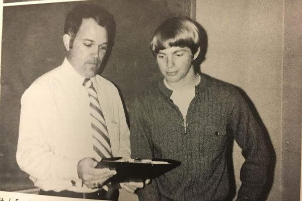 ARNOLD RECIEVES AWARD FOR TRACK -- Track superstar Steve Arnold runs his way into the Hall of Fame in 2016.