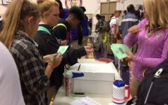 CENTRAL HIGH MOCK ELECTION -- Central High students cast their vote in the 2016 mock election.
