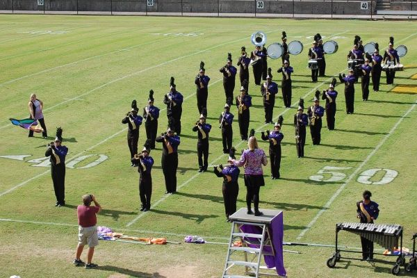 CENTRAL SOUND OF CHATTANOOGA -- Central's band preforms at Bradley Central High School's