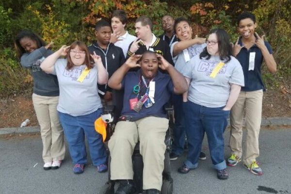CENTRAL SPECIAL OLYMPICS TEAM KNOWS HOW TO HAVE FUN -- Special Olympic team poses for a sassy picture full of fun!