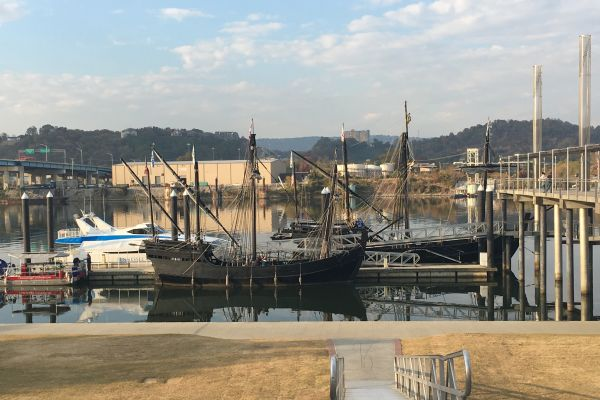SET SAIL TODAY! -- Climb aboard the Nina and Pinta and take a look at history.