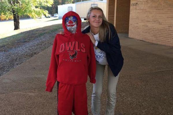 JUNIORS CREATE THEIR OWN FRANKENSTEIN --Student, Kaitlyn McAfee creates her