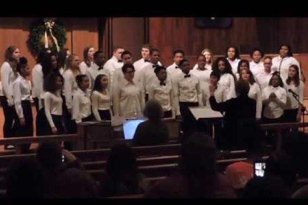 CENTRAL HIGH CHOIR CONCERT -- Choir members preform a Winter concert at St. John's United Methodist Church.