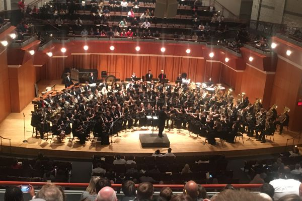 NINE CENTRAL BAND STUDENTS CHOSEN TO PERFORM AT UNIVERSITY OF GEORGIA'S JANFEST -- One of the bands that performed in the Hodgson Hall of Music during their final performance.