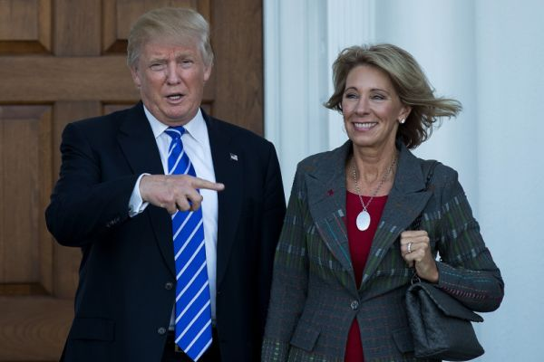 DEVOS FACES TOUGH CONFIRMATION HEARING -- Donald J. Trump and Sec. of Education Nominee Becky DeVos share similar views about schoools.