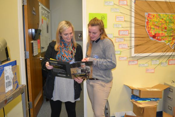 ALL CENTRAL SENIORS THAT HAVE APPLIED TO A COLLEGE HAS BEEN ACCEPTED -- Senior Guidance Counselor , Lindsey Ruggles (Left) and senior student, Katie Dorris (Right) talk about future plans after graduation.