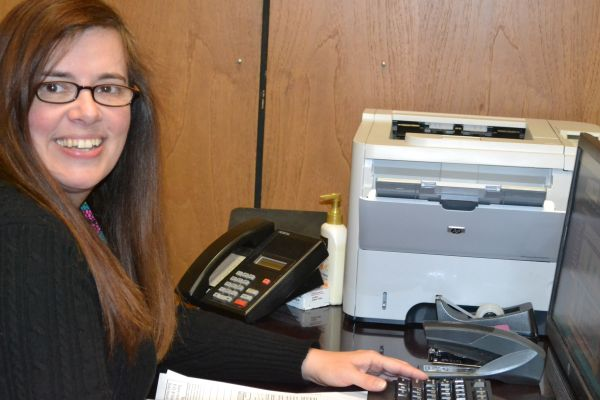 CENTRAL WELCOMES NEW BOOKKEEPER DONNA RAST -- Donna Rast has recently accepted the task of being Central's new bookkeeper.