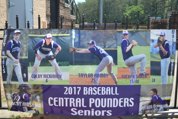 ATHLETE SPOTLIGHT: KOLBY HINSHAW CONTINUES TO BE A GREAT LEADER -- In this photo, all of the senior baseball players are placed on a poster. Kolby Hinshaw is in the bottom left corner