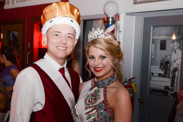 STUDENTS ENJOY ELEGANT NIGHTLIFE AT PROM -- Prom King Skylor Turner and Queen Miranda Lillard enjoy the night.