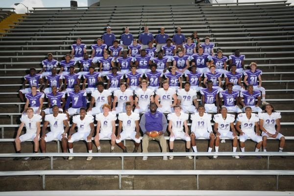 CENTRAL FOOTBALL KICKS OFF THE SEASON -- Central's 2017-2018 Purple Pounder football team come together with a group photo.
