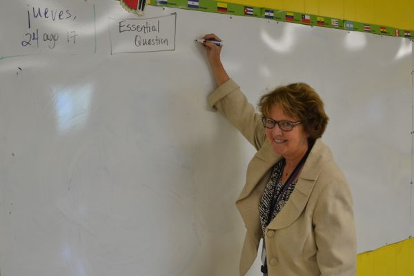 CENTRAL WELCOMES DR. DIANA COCHRAN -- Cochran enjoys teaching her Spanish and Bible History classes.