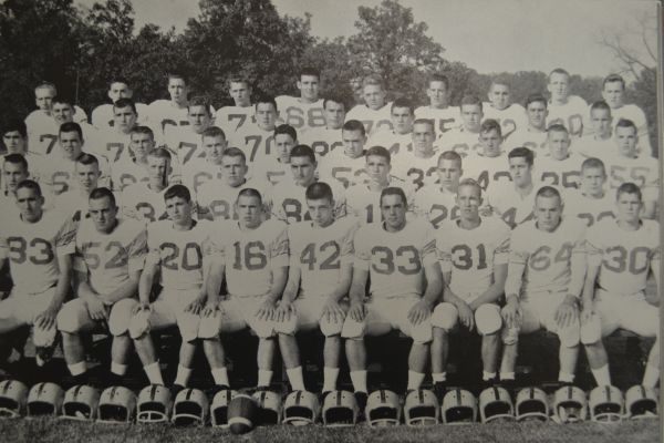 STATE WINNING TEAM -- Central's legendary 1957 football team is shown.