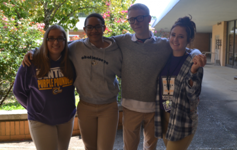 SOPHOMORE CLASS OFFICERS -- (Left to right) Newly elected Treasurer Peyton Anderson, President Jazmynn Ball, Secretary Brandon Henderson, and Vice President Meghan Duncan pose together.