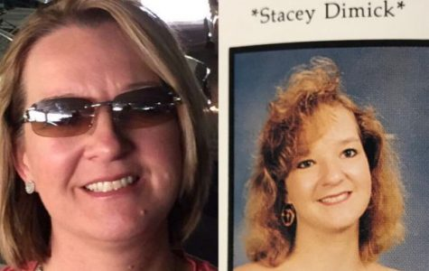POUNDER FROM PAST TO PRESENT -- A side by side of Staci White now (left) and her senior portrait from the Class of 1993 (right)