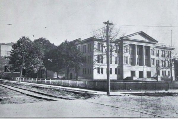 CENTRAL HIGH SCHOOL -- The prestigious school sat along Dodds Avenue in downtown Chattanooga. This photo was published among the first edition of The Digest.