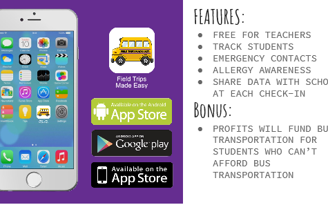 TEACHERPRENEUR: MRS. HOOPER'S APP HELPS TEACHERS  PLAN FIELD TRIPS -- The