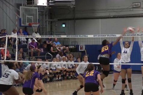 The 2017 Central High School Volleyball Team Plays Hard as Season Comes to a Close