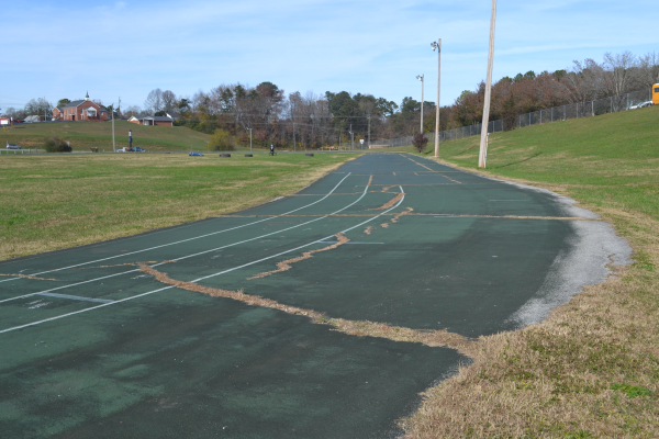 CENTRAL RECEIVING A BRAND NEW TRACK-- Old Track Before the Start Of New Track.