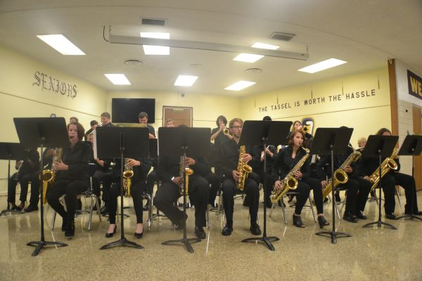 JAZZ BAND SHOWS OFF THEIR TALENTS AT FALL CONCERT -- Central band students take part in performing for parents and fellow students this fall.