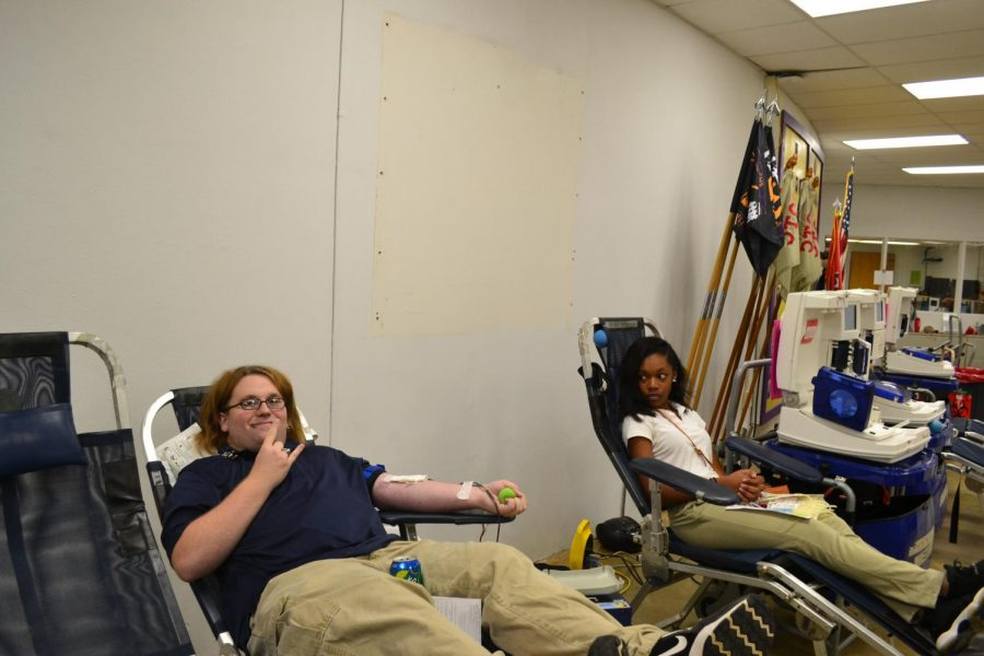 2017 FALL BLOOD DRIVE --  Central High Students donate to save three lives.