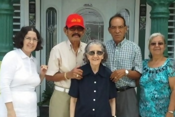 PUERTO RICO ON THE ROAD TO RECOVERY AFTER HURRICANES IRMA AND MARIA -- From right to left, Mr. Sanchez's sister, Gilda, is pictured along with parents Jose and Hilda Sanchez,  and their uncle Hector and his wife, Maria.