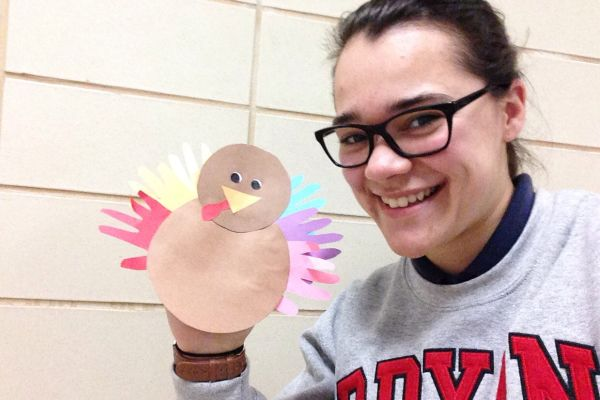 HAND TURKEY -- Thanks to Mr. Seals for letting me borrow a turkey.