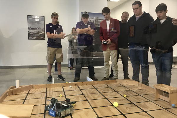 CENTRALS ROBOTICS TEAM WINS THIRD PLACE IN COMPETITION --Students Patrick Quinn, Ryan Wilson, Jordan Owen, James Ortiz, and Zach Whittmore  compete in the Robotics Competition at Chattanooga State.