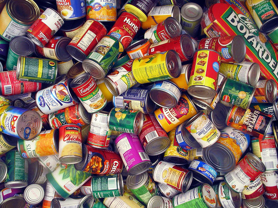 NATIONAL HONOR SOCIETY INITIATES CANNED FOOD DRIVE -- The canned goods that were gathered last week were sent to the Highway 58  Fire Department for distribution to those in  need.