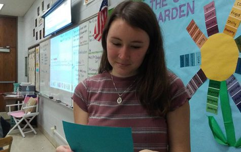 MS. HALE READS A THANK YOU NOTE -- Ms. Hale reads a thank-you note that was addressed to her by one of her students.
