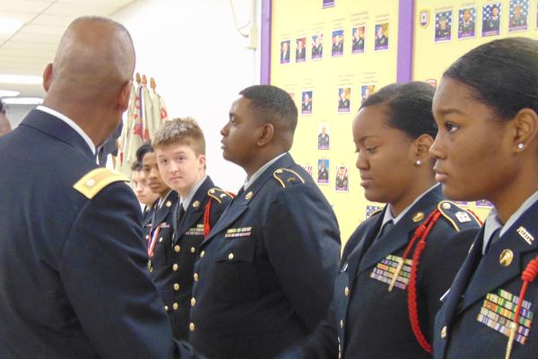 CENTRAL HIGH SCHOOL JROTC INSPECTION DAY.