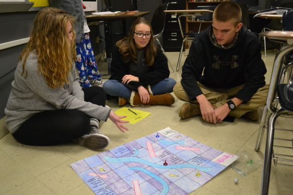BOARD GAME PROJECT -- Mr. Greg Cantrell's Honors English 11 students created board games based on the short story by Tennessee Williams,