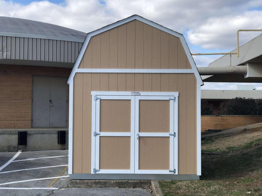 CENTRAL HIGH RECIEVES NEW STORAGE  SHEDS -- One of the three new sheds