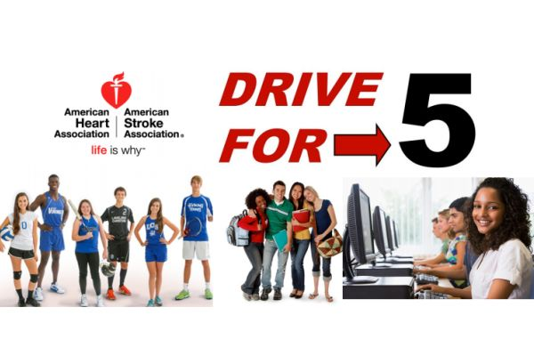 DRIVE FOR 5 -- The American Heart Association hopes to promote lessons of health living.