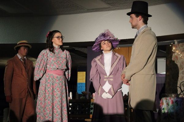 THE IMPORTANCE OF BEING EARNEST -- My fellow actors and I perform in Act II of the play.
