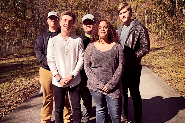 CENTRAL HIGH GRADUATES -- Graduates of the Mechatronics Akademie from Central. From left to right, Blake DeYoung, Michael Tudor, Joseph Miller, Lillian Tarukwasha, and Matthew O'Neil.